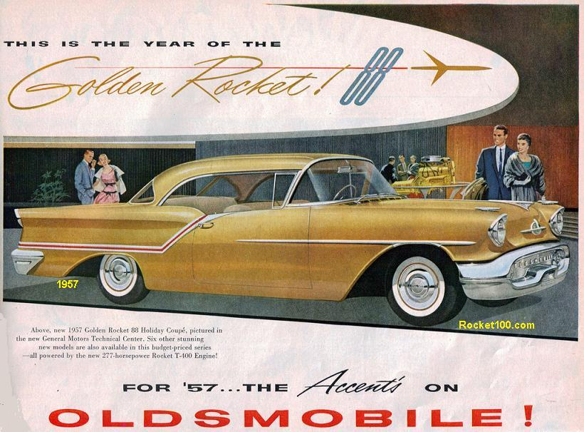 oldsmobile golden rocket 88 1957 Olds Golden Rocket 88